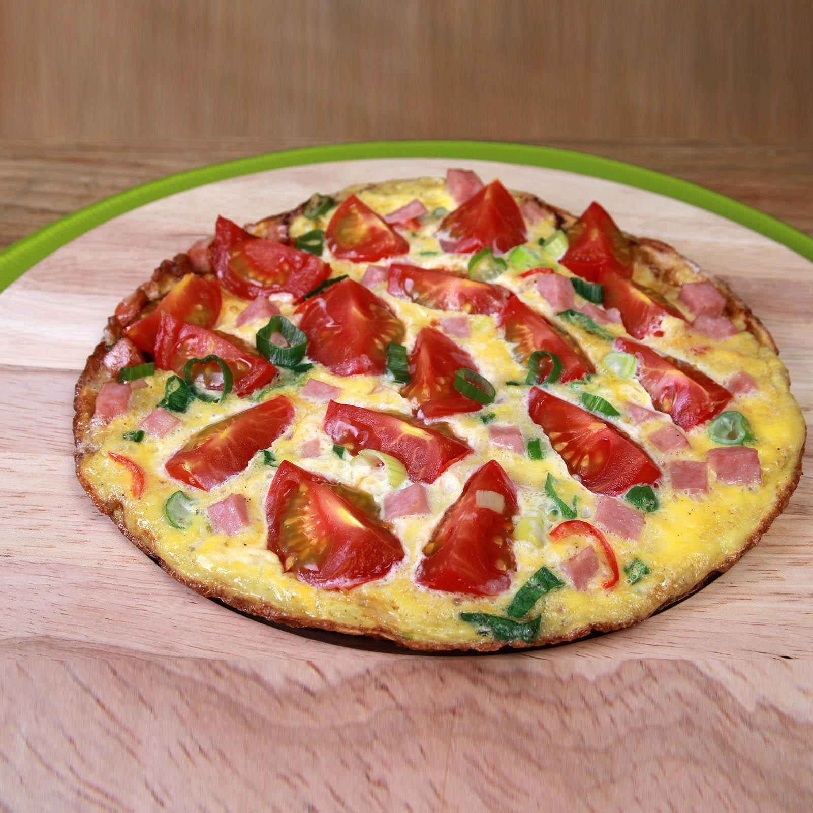 Pittige tomaten omelet
